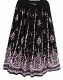 MULTI Ladies Indian Boho Hippie Gypsy Sequin Summer Sundress Maxi Skirt BLACK GREEN