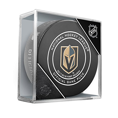 fan products of Las Vegas Golden Knights FIRST SEASON Sherwood Official NHL Game Puck in Cube