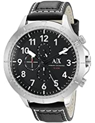 Armani Exchange Mens AX1754 Grey  Leather Watch