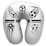 DMN U-Shaped Neck Pillow Soccer Pillows Soft Convertible Portable Multifunctional For Travel Reading And Sleeping