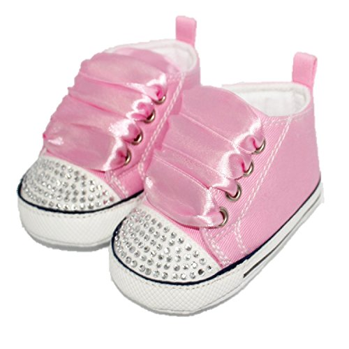Pink Style And Shoes Ribbons 12 Converse With Months Crystals 18 Baby Pram aqWq47