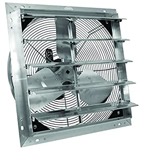 Ves 20 Exhaust Shutter Fan With 9 39 Cord Wall Mount Patio Lawn Garden