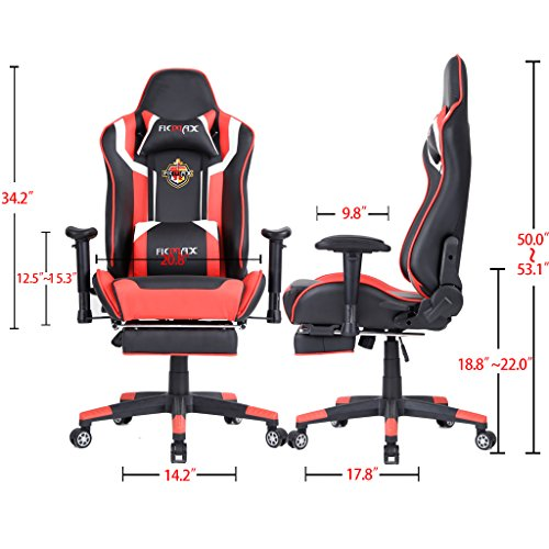 Ficmax High Back Computer Gaming Office Chair Recliner