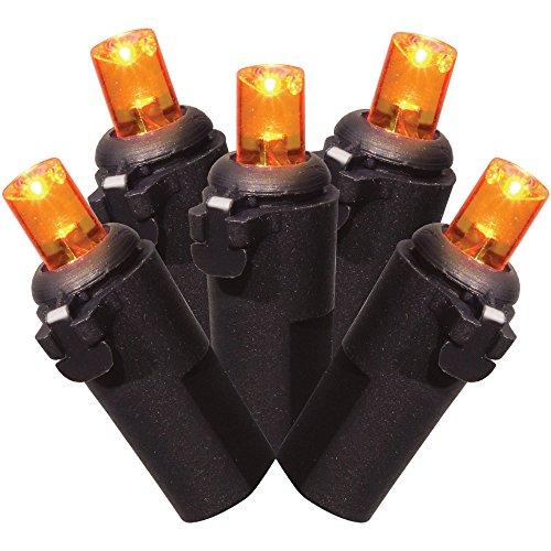Halloween B/O LED Mini Lights, Orange, 20pk