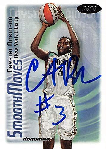 (Crystal Robinson autographed Basketball Card (New York Liberty) 2000 Skybox Dominion #132)