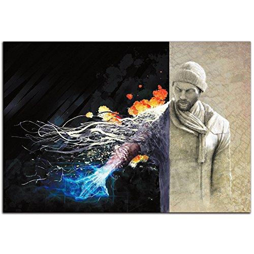 Sci Fi Art 'Ben Evolving' Urban Man Science Fiction Art, Abstract Painting Giclee Print,