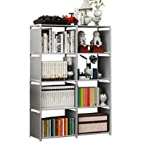 Rerii Cube Organizer Shelf, 8-Cube Storage Closet Organizer, Cabinet Bookcase, Bookshelf, Free Standing Shelves for Bedroom Living Room Office
