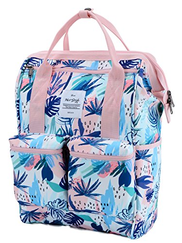 DISA Chic Doctor Bag Style College Backpack Travel Daypack | Tropical Pink]()