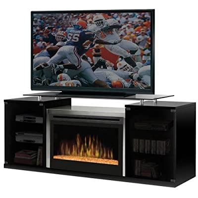 DIMPLEX Marana Media Console Electric Fireplace with Acrylic Ember Bed Black/1500