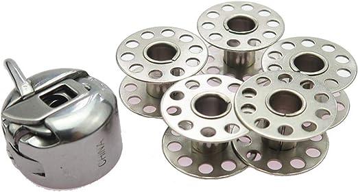 Fliyeong - Kit de Costura de Bobina de Metal para máquina de Coser bobinas bobinas bobinas para Accesorios de Costura: Amazon.es: Hogar