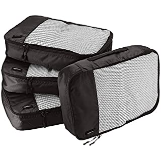 51r6kmu3M8L. SS320 AmazonBasics Packing Cubes/Travel Pouch/Travel Organizer - Medium, Black (4-Piece Set)