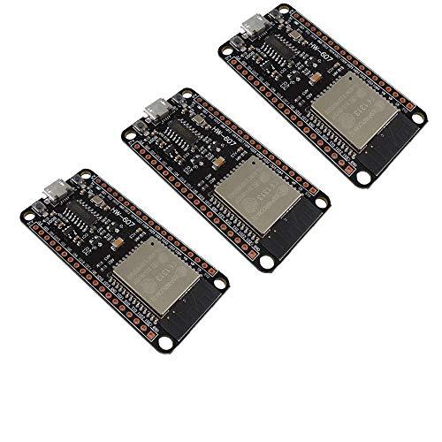 DiyStudio 3個 ESP32 CH340G Entwicklung 2.4GHzデュアルモードWiFi Bluetooth開発ボード