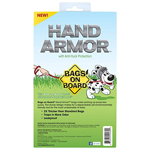 SHOPUS   Bags On Board Hand Armor Dog Poop Bags   Extra Thick Dog