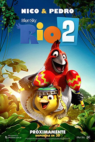 Fit You Rio 2 Silk Wall Poster Hot Movie Pictures For Gift Children Bedroom Decor Lovely Cartoon Poster Birds 10