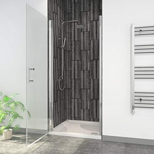 Lowest Prices! ELEGANT 32″ W x 72″ H Hinged Shower Door, 3/16″ Shower Clear Glass Panel Pivot Swing Frameless Shower Door, Chrome Finish