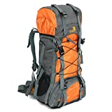 Sammid Hydration Backpack 60L,Sports Large Backpack with Drawstring, for Backpacking, Hiking, Camping - Orange