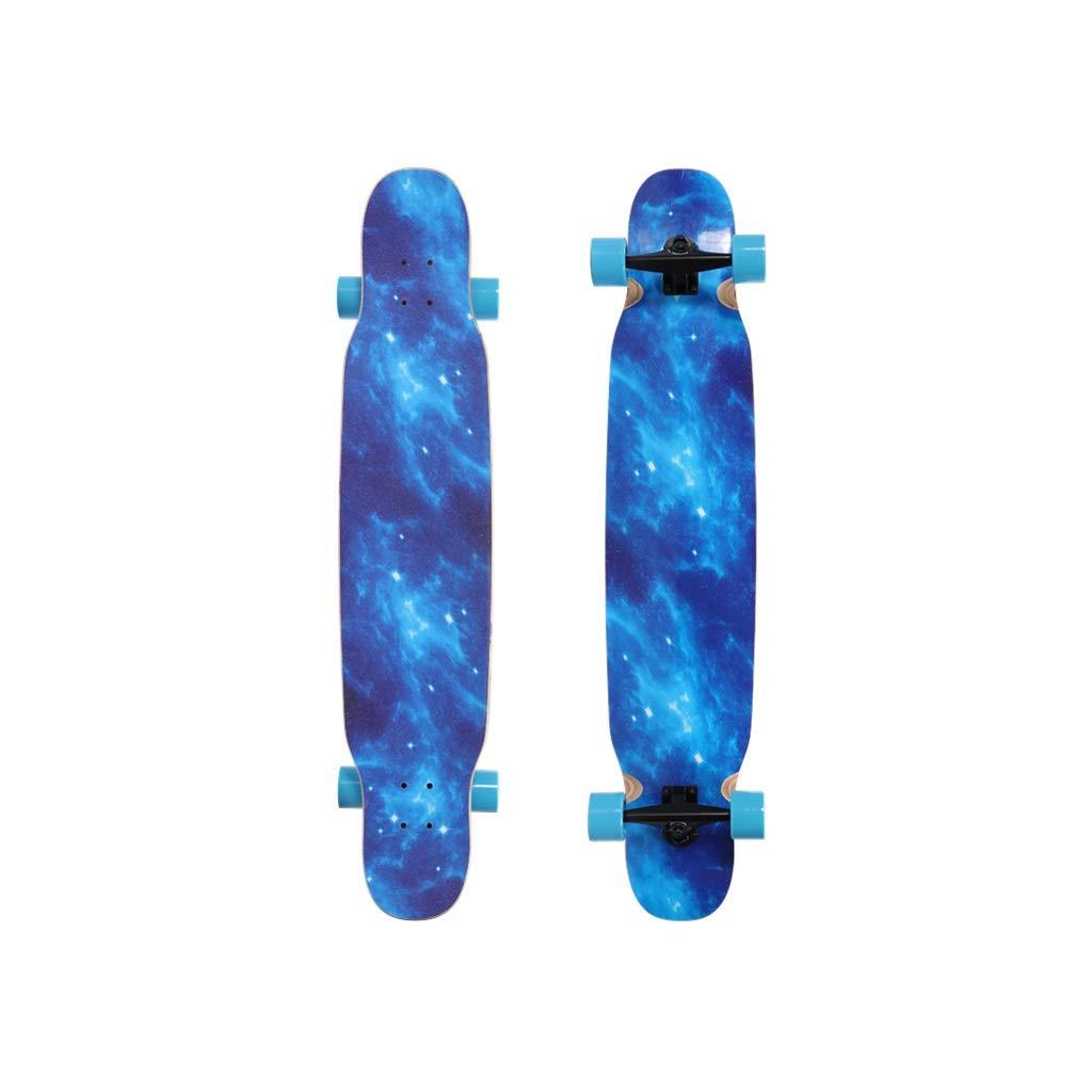HXGL-スケートボード ロングボードガール大人四輪スケートボードコンプリートスケートボード118センチ両面印刷スケートボード初心者 Double-sided printing