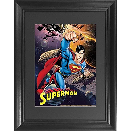 Superman 3D Poster Wall Art Decor Framed Print | 14.5x18.5 | Lenticular Posters & Pictures | Memorabilia Gifts for Guys & Girls Bedroom | DC Comic Book Classic Hero Movie Fan Picture & Collectable (Superman Classic)