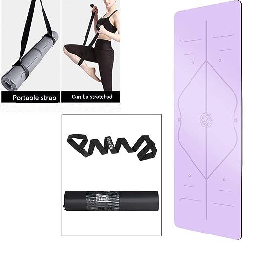 ZQSLD Esterilla Yoga,Colchoneta de Yoga Fitness con 2 ...