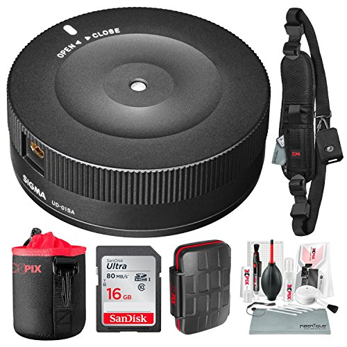 Sigma USB Dock for Nikon F-Mount Lenses with 16GB Card, Xpix Deluxe Cleaning Kit, and Deluxe Accessory Bundle