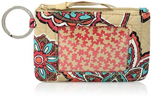 Vera Bradley Iconic Zip ID Case, Signature Cotton, Desert Floral