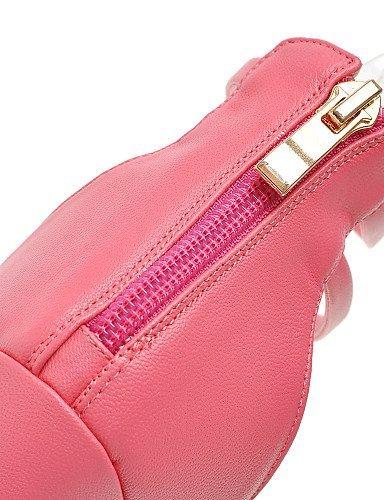 ShangYi Womens Shoes Fleece Stiletto Heel Heels / Comfort / Open Toe Sandals Office & Career / Dress Black / Pink / White Pink