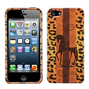 For Apple iPhone 5/5S Hard Snap Case Cover Leopard Zebra Sunset