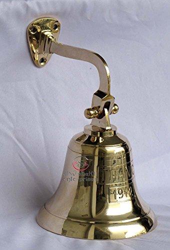 Wall Mount Titanic Ships Door Bell Nautical Hanging Bell Marine Decorative Brass Bell ()