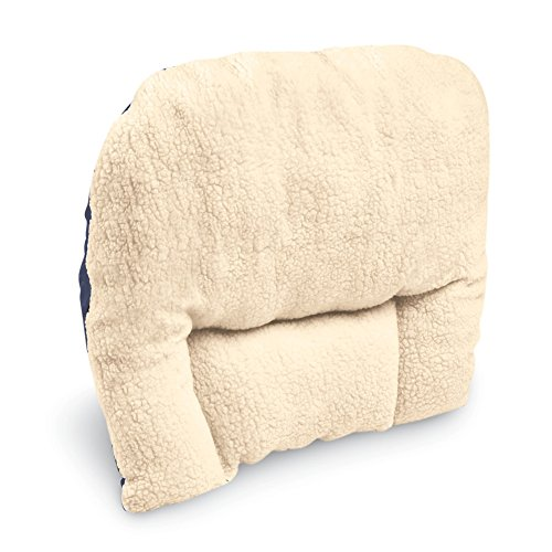 Price comparison product image Fleece Back Support Cushion,  White,  One Size