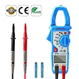 Clamp Multimeter True RMS AC/DC Digital Voltage Lab Electrical Clamp Meter Capacitance Circuit Tester Ammeter with NCV by Aidbucks MT200