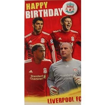 Liverpool FC Birthday Card Players Amazonde Spielzeug