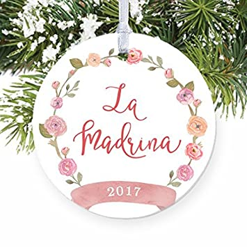 la madrina spanish godmother madrina baptism gift ornaments wedding anniversary christmas keepsake xmas tree decorations gift - Spanish Christmas Decorations