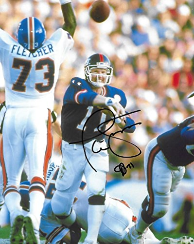 Phil Simms, New York Giants, SB MVP, Signed, Autographed, 8X10 Photo, a COA with the Proof Photo of Phil Signing Will Be Included--