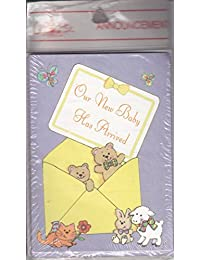 Baby Boy or Girl Birth Announcement Cards -