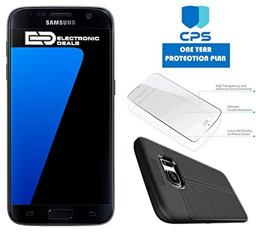 Samsung Galaxy S7 G930 Verizon CDMA/GSM Unlocked (Renewed) w/ED Bundle - $99 Value (Bundle Includes: ED Case + Screen Protector + 1 Year CPS Limited Warranty) (Black Onyx, 32GB)