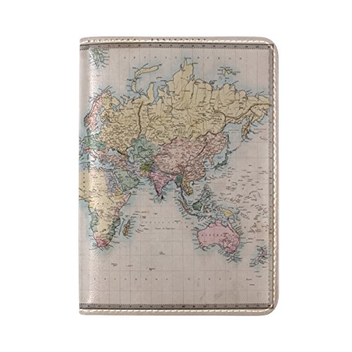 European Style Personalized World Map Travel Passport Covers Holder Case Protector - Style World Map