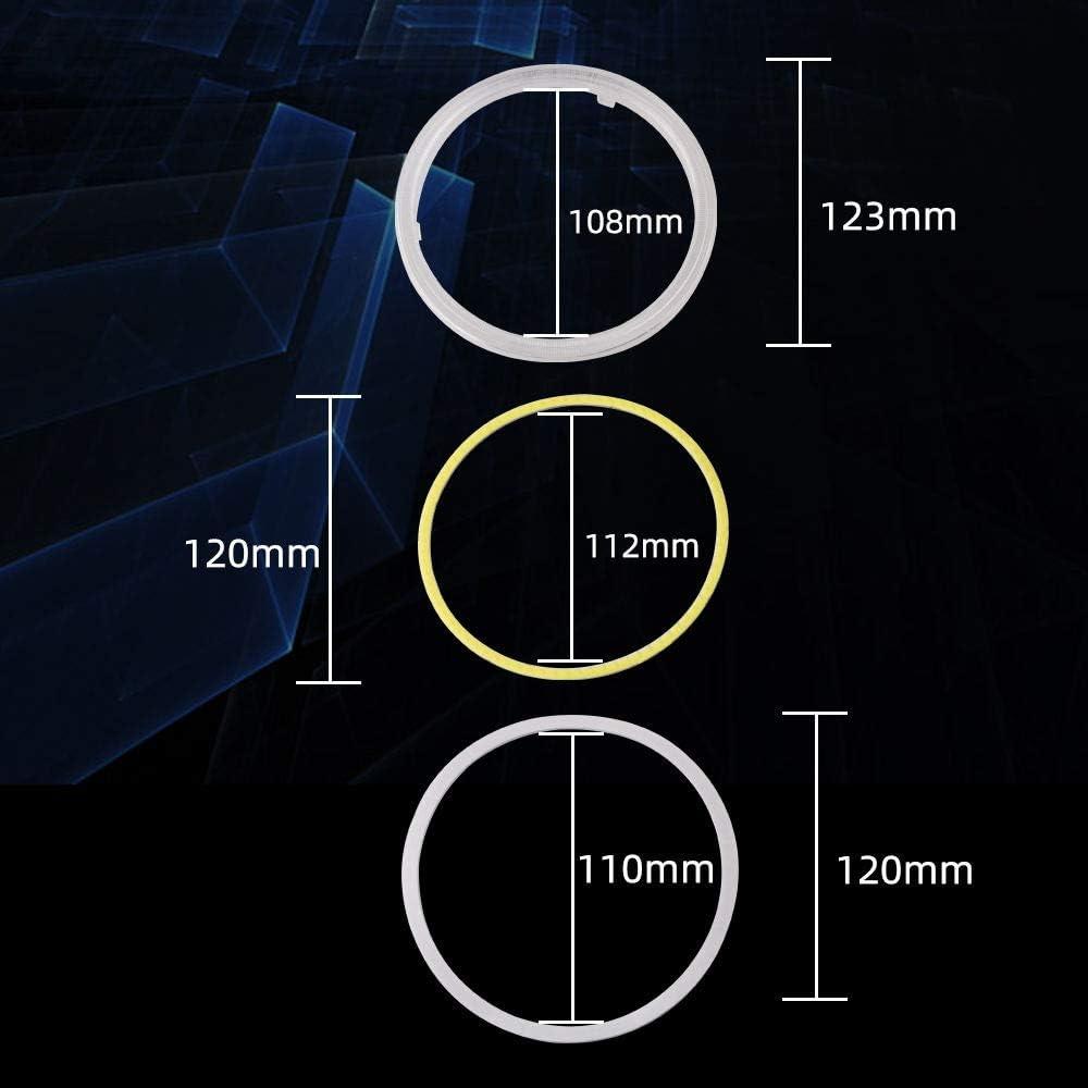 Qasim 1 paire de LED COB Angel Eyes Halo Anneaux avec Coque En Plastique 60MM Blanc 45SMD pour Moteur Voiture DRL Phare Antibrouillard DC 12V