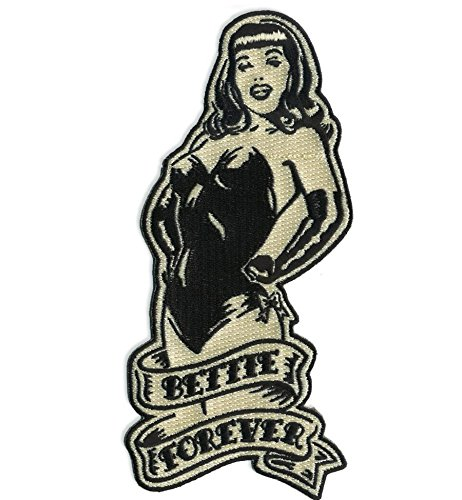 Bettie Page Girl - Bettie Page Forever Pin Up Girl Patch Embroidered Iron On Applique
