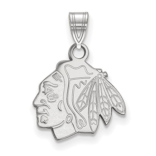 Chicago Blackhawks Small (1/2 Inch) Pendant (Sterling Silver)