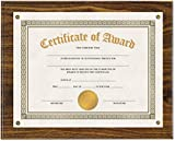 Universal 76826 Award Plaque, 13 1/3'' x 11'', Walnut