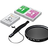 LS Photography 58mm ND8-Neutral Density-Filter Camera Accessory, Lens Cap Holder, Cleaning Wipes, LGG355