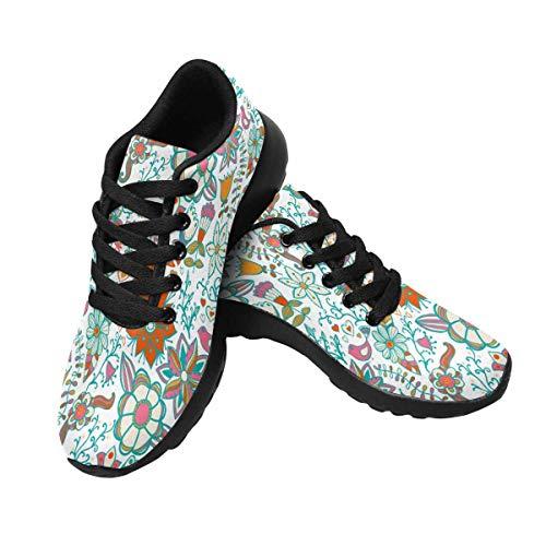 Floral InterestPrint 10 Vintage Women's Sneaker Design Running YrIg6qwxI