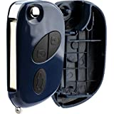 KeylessOption Keyless Entry Car Flip Remote Key Fob Shell Case Replacement For Maserati RX2TRF937