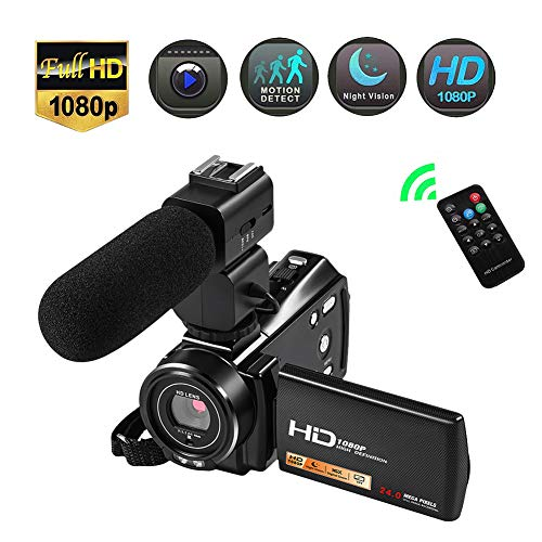 YMXLJJ Large Wide-Angle Digital Camera 1080P HD Anti-Shake WiFi Camera 16x Zoom 3.0-inch LCD Screen Night Vision with External Microphone Remote Control Pause Function