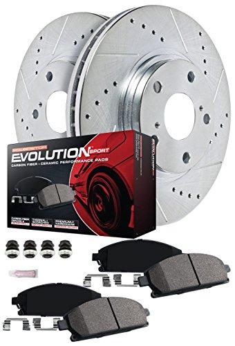- Power Stop K7002 Front & Rear Brake Kit with Drilled/Slotted Brake Rotors and Z23 Evolution Ceramic Brake Pads