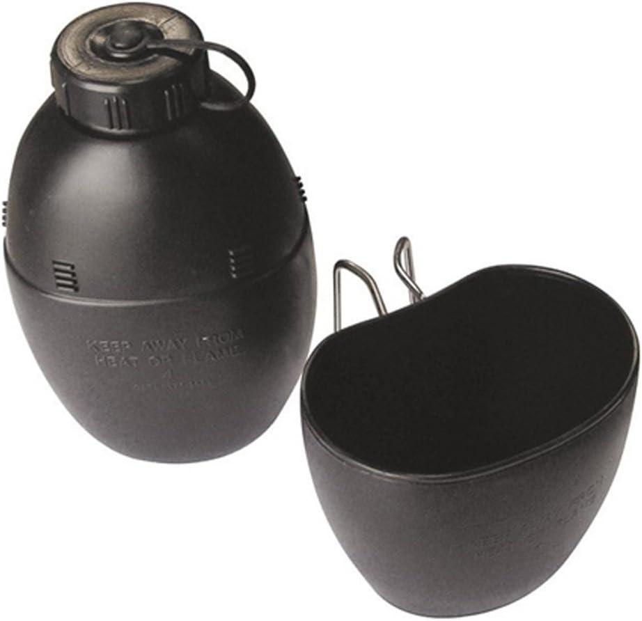Militares del Ejército Británico 58patrón hidratación Surplus botella de agua y taza de nuevo negro