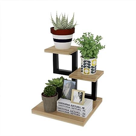 CATRP Soporte para Flores Escritorio Mini Escalera para Plantas con 3 Niveles Balcón Planta De Pie Estante Decoracion Puesto de Flores: Amazon.es: Hogar