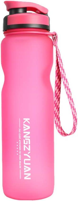 Botella Deportiva, Vaso De Plástico Reutilizable Portátil Con Boquilla De Succión Para Deportes Al Aire Libre Y Ejercicios Físicos,Rosado