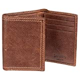 Denizen from Levi's Men's Genuine Leather Distressed Trifold Wallet, Brown
