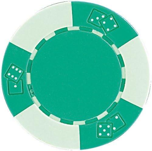 Unbekannt Grand Straight Royale 25 Deluxe-Chips 11,5 g Dice Design dunkelgrün/hellgrün